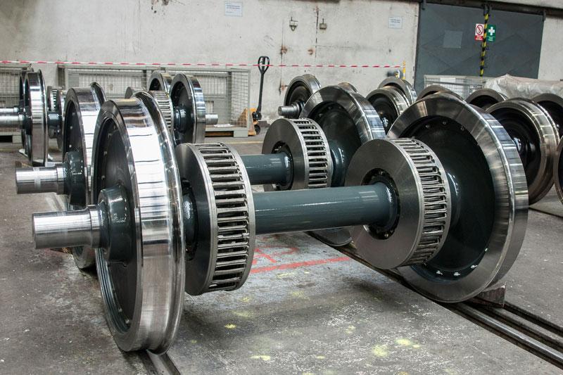 相片:GHH-Bonatrans於1808年創立,總部設於捷克,製造各類軌道車輛輪組。