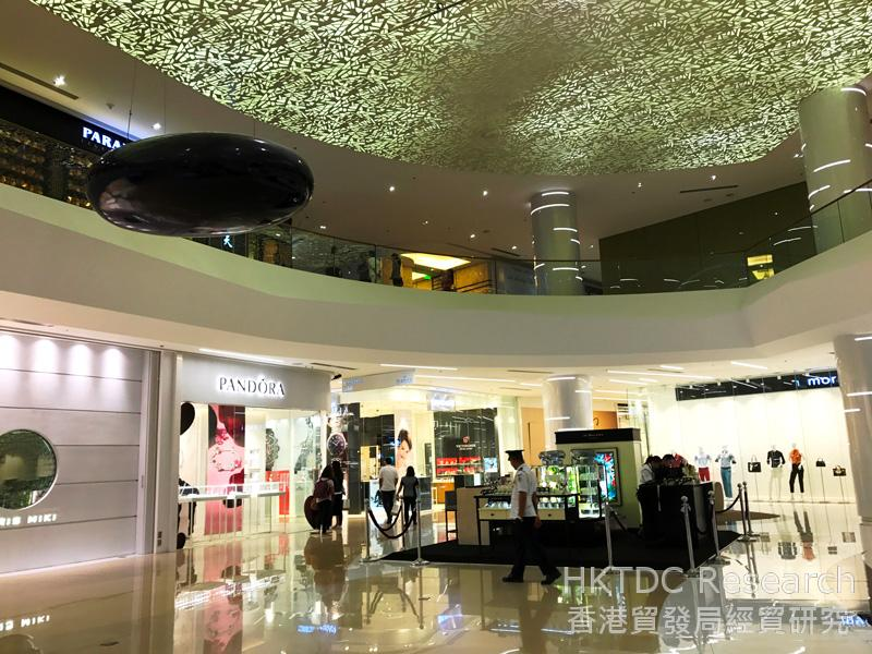 Photo: High-end shopping mall featuring foreign brands in Manila.