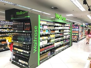 Photo: High-end supermarket selling imports from the UK.