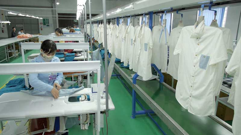 Photo: Production lines set up by Luen Thai in the Philippines. (Photograph provided by Luen Thai)
