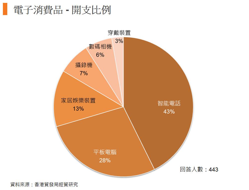 图: 电子消费品 - 开支比例