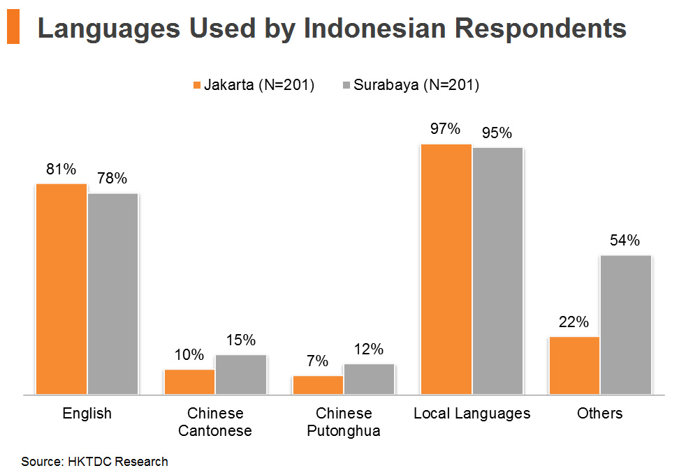 Chart: Languages Used by Indonesian Respondents