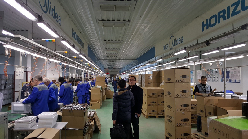 Photo: Midea-Horizont production lines in FEZ Minsk.