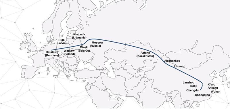 图:白罗斯是欧洲(独联体及欧盟)和亚洲之间的重要桥梁。