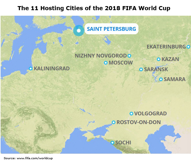 Picture: The 11 Hosting Cities of the 2018 FIFA World Cup