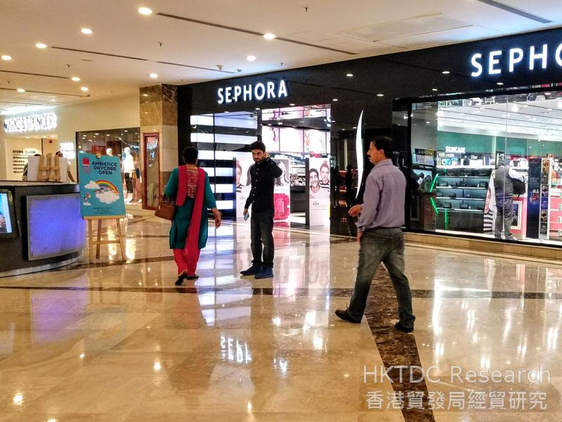 Photo: A shopping mall in Gurgaon, Delhi.