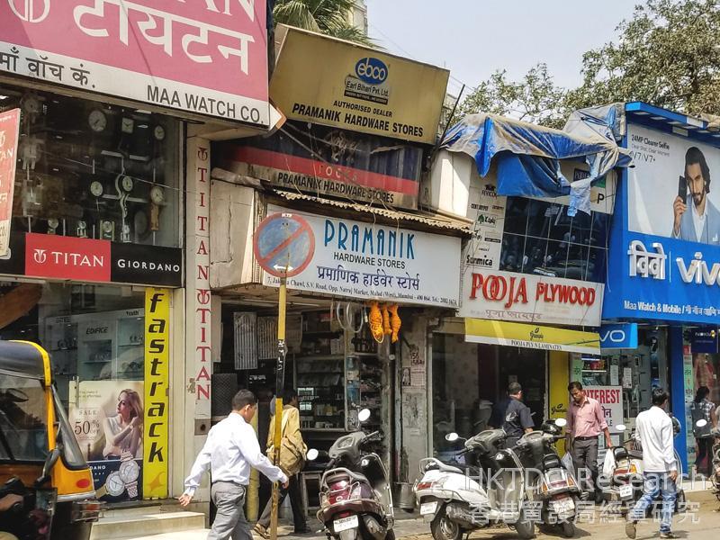 Photo: Neighbourhood stores in Mumbai.
