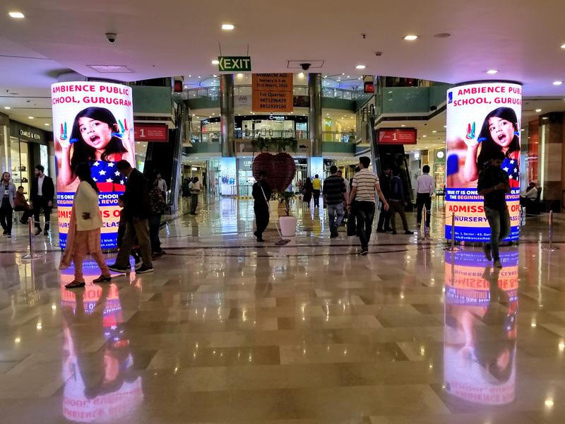 相片: 德里古尔冈(Gurgaon)一家商场。