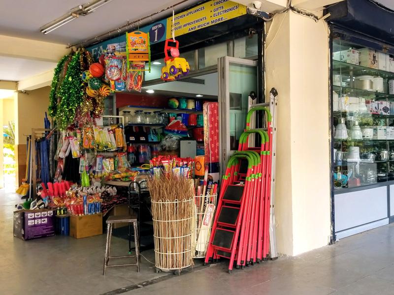 相片: 班加罗尔(Bangalore)的街头小商店。