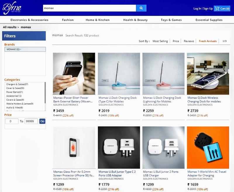 相片:  在BFMe.in上架的香港产品。
