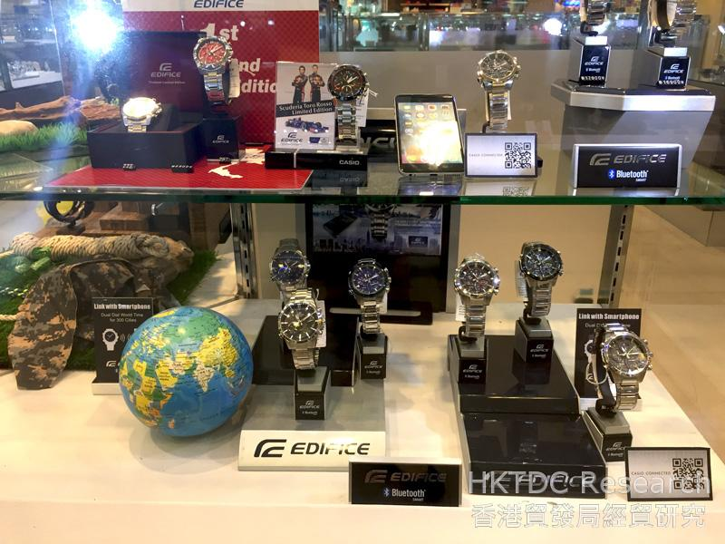 Photo: Men's watches with advanced functionality.