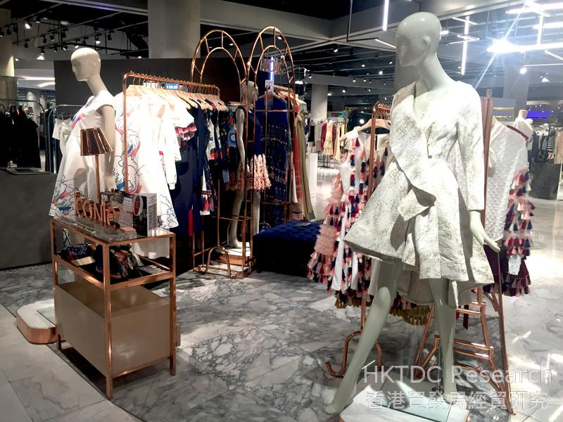 Photo: Designer clothing in an upscale shopping mall – EmQuartier.