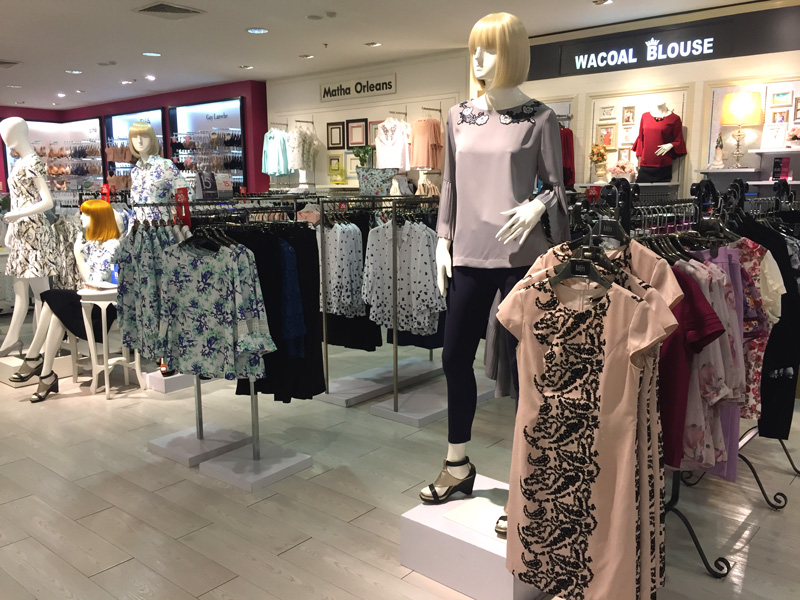 Photo: Women's fashion in Robinson Department Store.