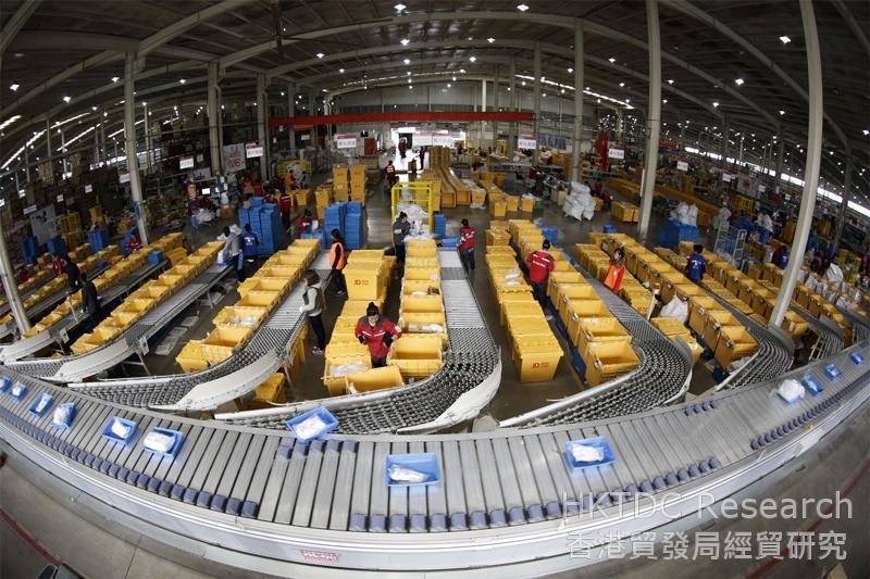 相片:京東位於上海亞洲一號的倉庫。
