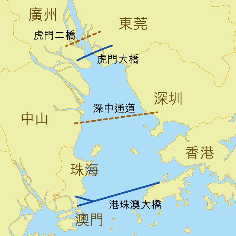 相片:粵港澳三地正在提升跨區交通運輸設施。
