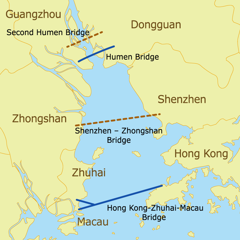 Photo: Guangdong, Hong Kong and Macau are joining forces to upgrade cross-regional transportation facilities.