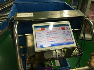 Photo: Wireless electronic label sorting system.