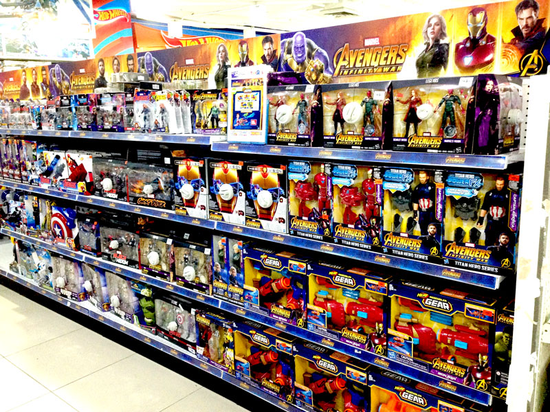 Photo: Toys'R'Us selling popular licensed toys.