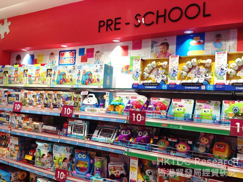 相片: 百貨公司的學前兒童玩具。