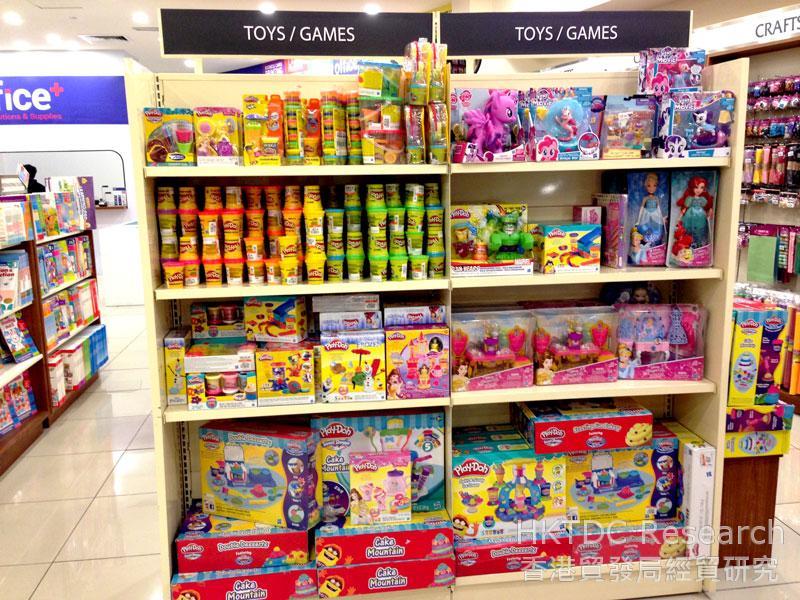 相片: 连锁书店MPH的玩具货架。
