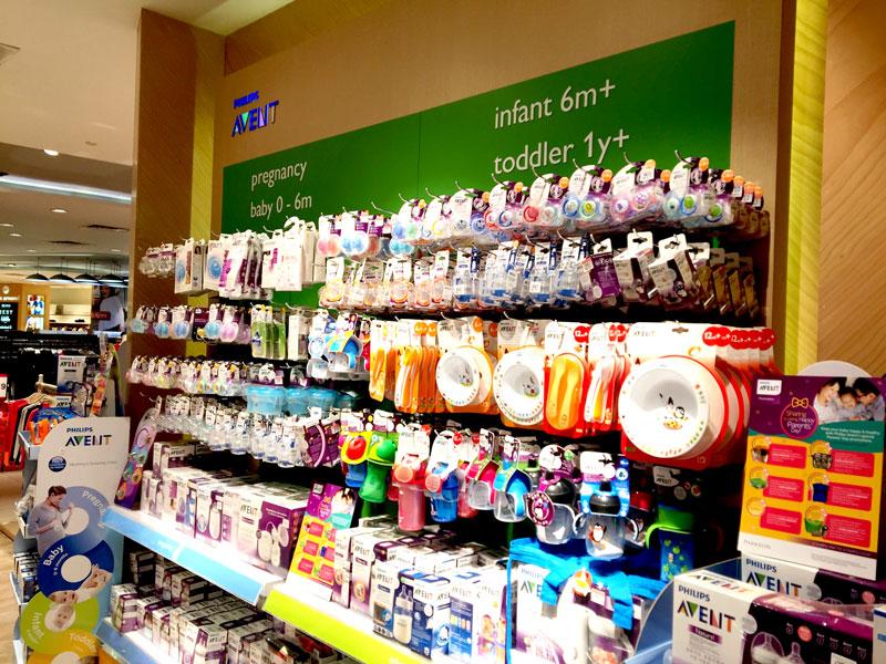 相片: 百貨公司售賣林林總總的嬰兒及孕婦產品。