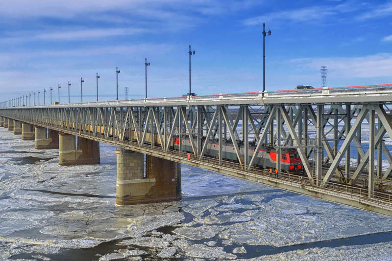 Photo: The Amur River Bridge Project is the first ever railway bridge across the Sino-Russian border
