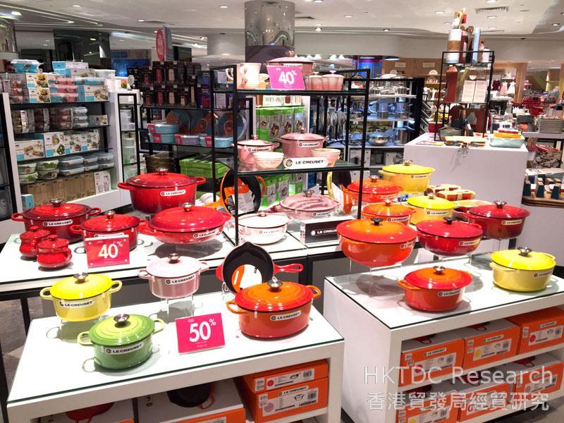 相片: 吉隆坡一家百貨公司售賣的歐洲品牌煮食用具。
