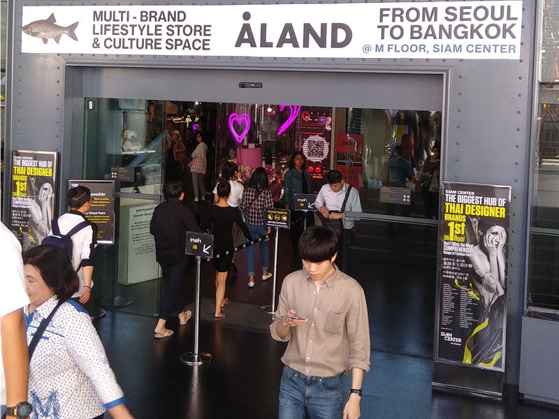 Photo: ALAND store in Thailand.