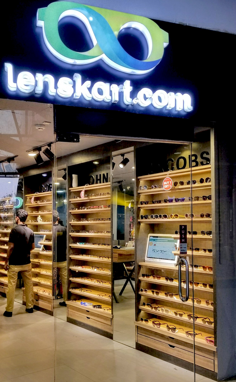 Photo: A Lenskart.com store inside a shopping mall carrying the John Jacobs brand.