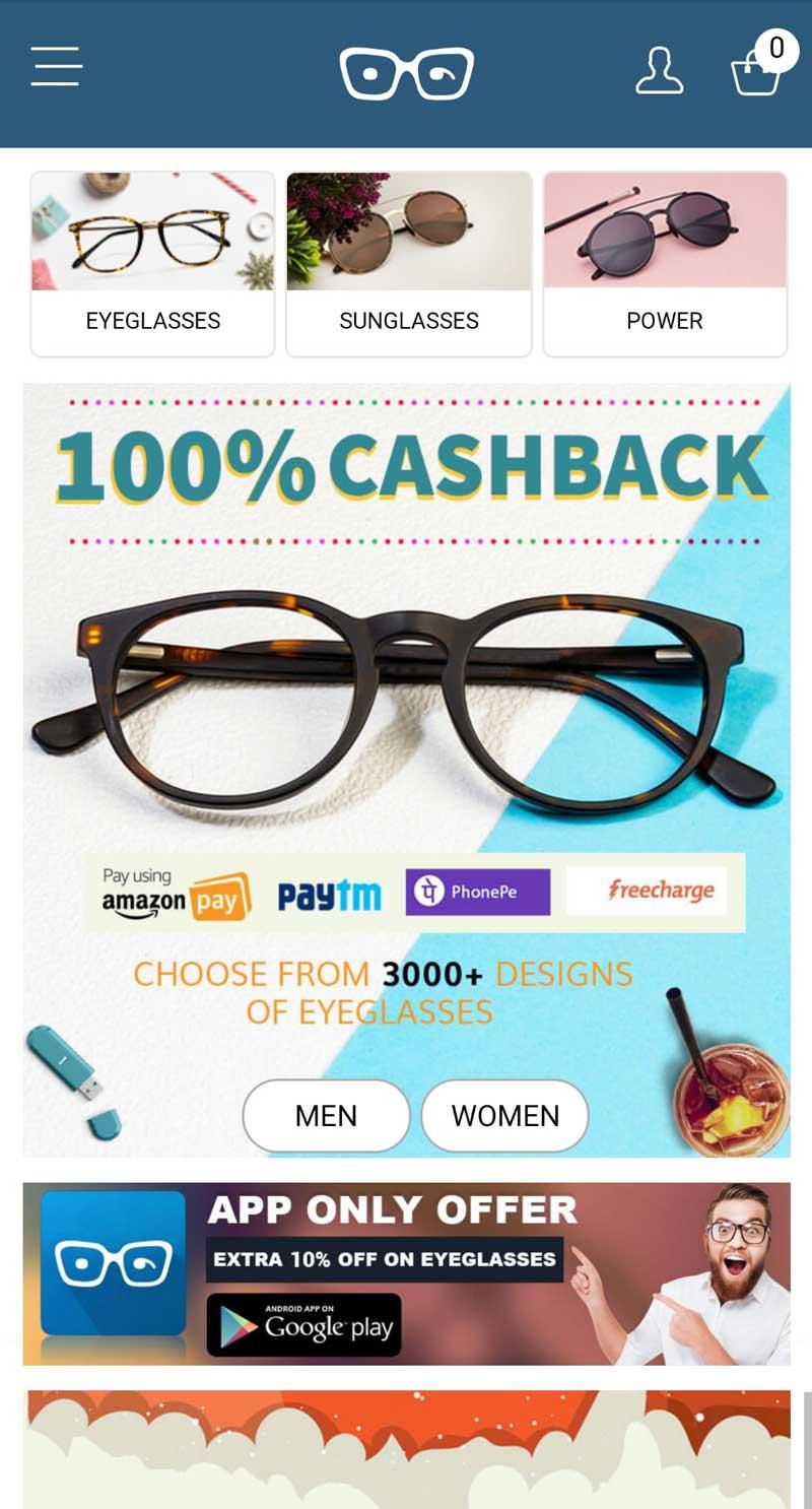 相片: 眼镜公司的推销宣传。