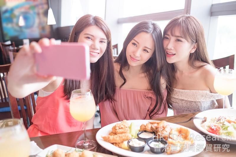 相片:消费者喜欢在社交媒体分享用餐体验。