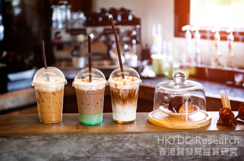 相片:商场内的饮品店。