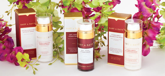 Photo: Sasy n Savy skincare products