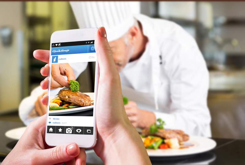 Photo: Digitally sharing dining experiences is now hugely popular.