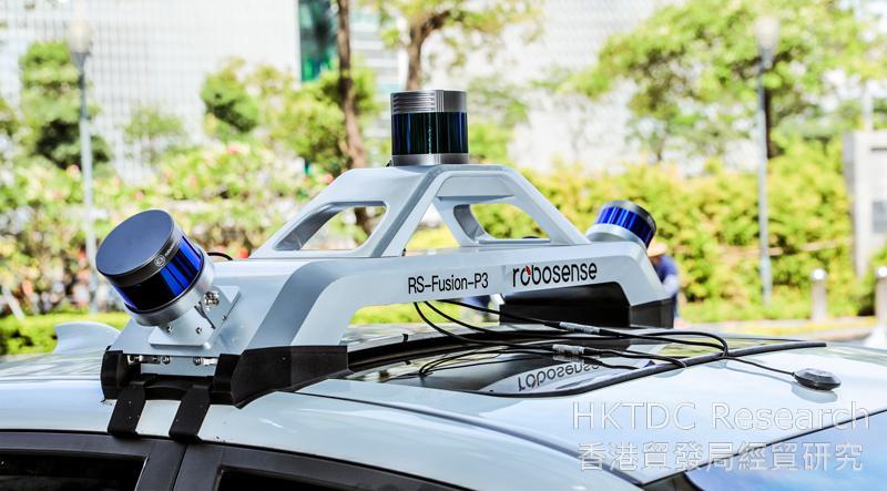 相片:RoboSense 自主研發的小型雷射雷達感測器。