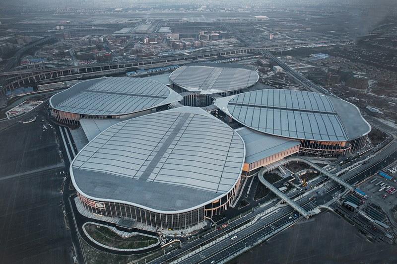 相片:位於上海的國家會展中心。