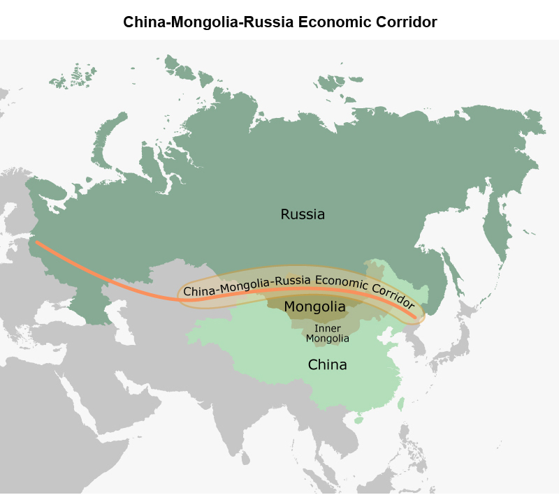 Map: China-Mongolia-Russia Economic Corridor