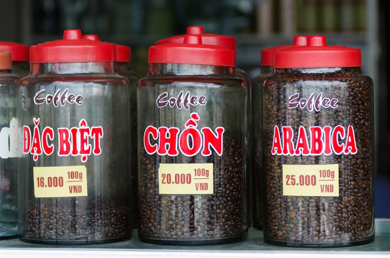 Photo: Vietnamese coffee beans.
