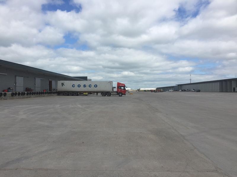 Photo: China-Russia border trade logistics complex in Manzhouli.