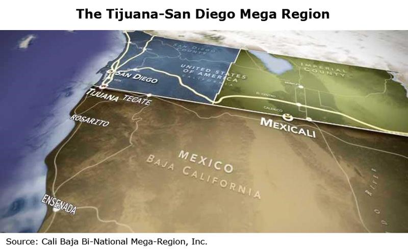 Picture: The Tijuana-San Diego Mega Region