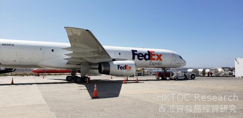Photo: FedEx is flying daily to and from Matrix Terminal in Tijuana.