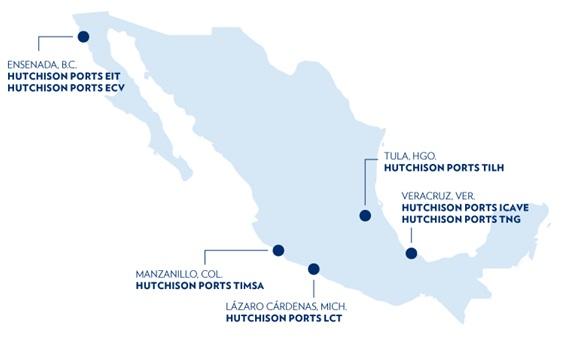图片:香港上市公司长江和记实业旗下的和记港口现时在墨西哥经营5个商业港口,处理墨西哥三分之一的进出口货柜。
