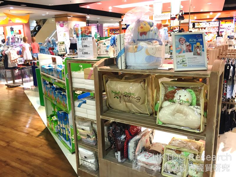 Photo: Natural and organic baby products sold at a department store in Bangkok (1).