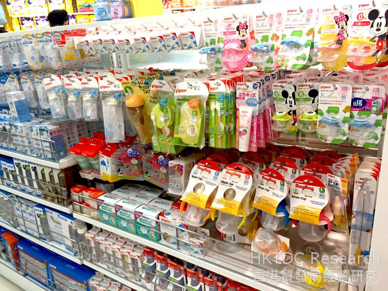 Photo: Wide variety of baby products in a Bangkok department store (2).