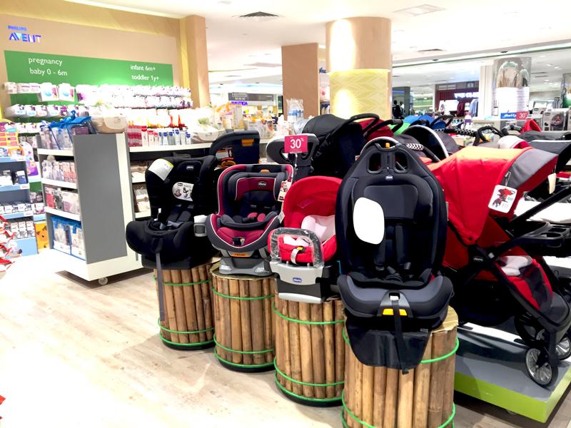 相片: 吉隆坡一家百貨公司的嬰兒用品部(1)。