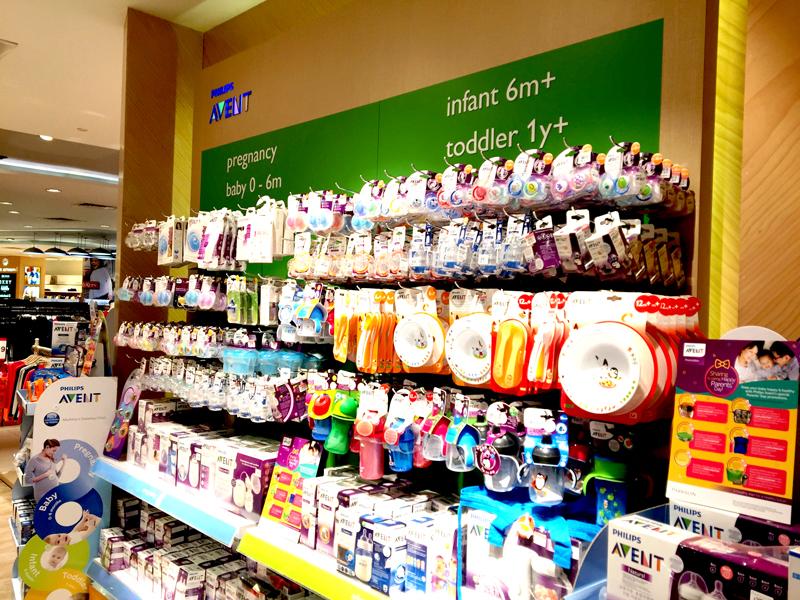 相片: 吉隆坡一家百貨公司的嬰兒用品部(2)。