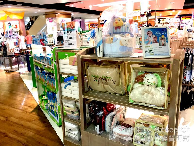 相片: 曼谷一家百貨公司展示的嬰兒用品種類繁多(1)。