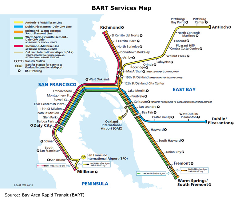 Picture: BART Services Map