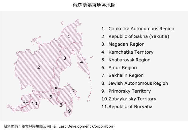 图片:俄罗斯远东地区地图