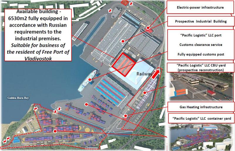 图片:符拉迪沃斯托克市的MAZDA-SOLLERS厂区毗邻金角湾,通过延线轨道连接西伯利亚铁路。